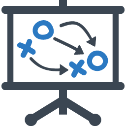 Blue Productivity Improvement Icons14